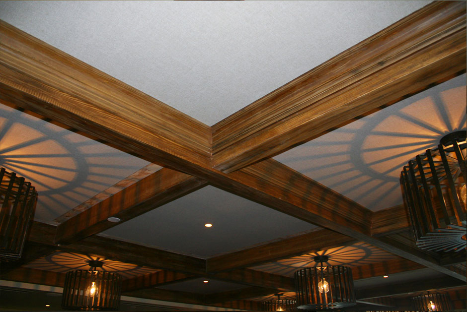 Faux Beams Crown Detail